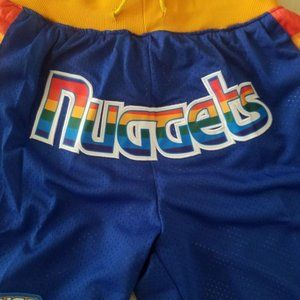 New Just Don NBA Denver Nuggets Basketball Shorts